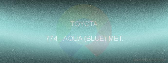 Toyota paint 774 Aqua (blue) Met.