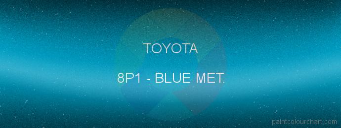 Toyota paint 8P1 Blue Met.
