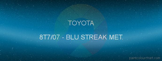 Toyota paint 8T7/07 Blu Streak Met.