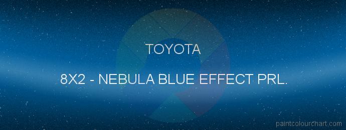 Toyota paint 8X2 Nebula Blue Effect Prl.