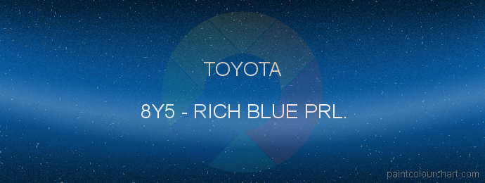 Toyota paint 8Y5 Rich Blue Prl.