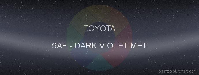 Toyota paint 9AF Dark Violet Met.