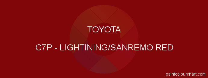 Toyota paint C7P Lightining/sanremo Red