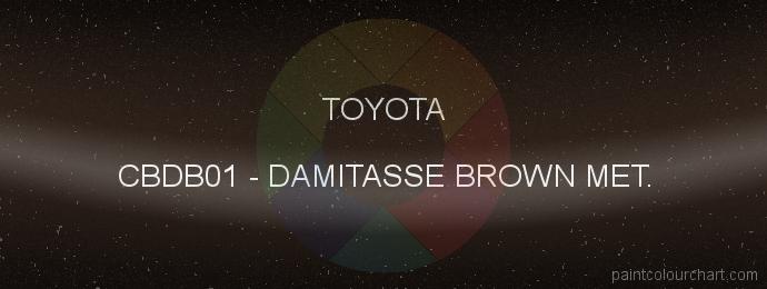 Toyota paint CBDB01 Damitasse Brown Met.