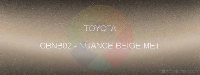 Toyota paint CBNB02 Nuance Beige Met.