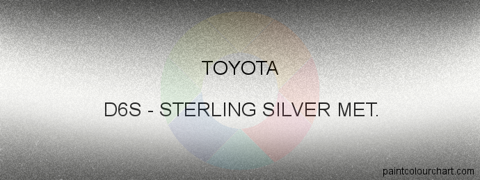 Toyota paint D6S Sterling Silver Met.