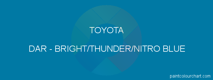 Toyota paint DAR Bright/thunder/nitro Blue