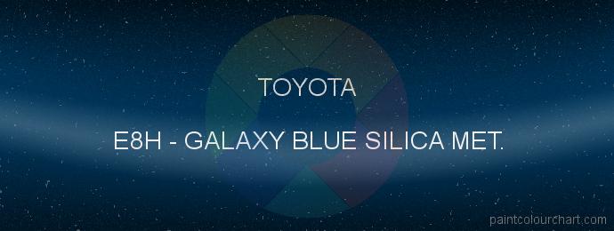Toyota paint E8H Galaxy Blue Silica Met.