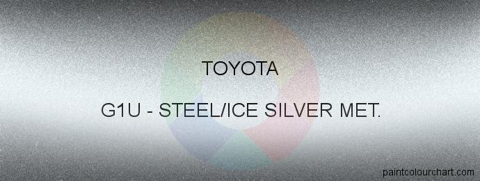 Toyota paint G1U Steel/ice Silver Met.