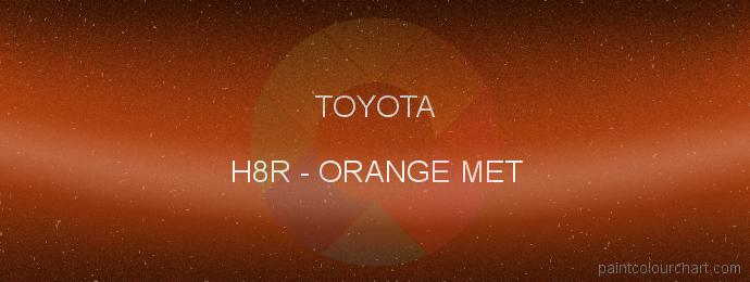 Toyota paint H8R Orange Met