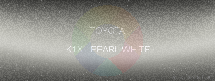 Toyota paint K1X Pearl White