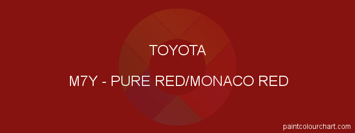 Toyota paint M7Y Pure Red/monaco Red