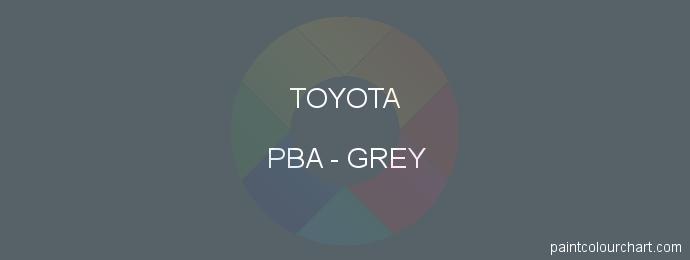 Toyota paint PBA Grey