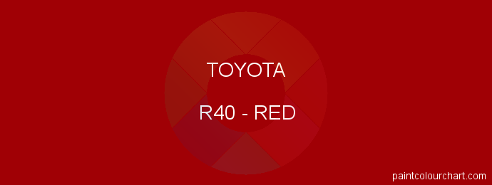 Toyota paint R40 Red