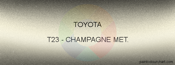 Toyota paint T23 Champagne Met.