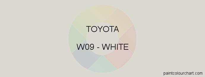Toyota paint W09 White