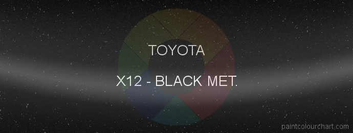 Toyota paint X12 Black Met.