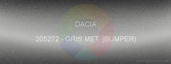 Dacia paint 205272 Gris Met. (bumper)