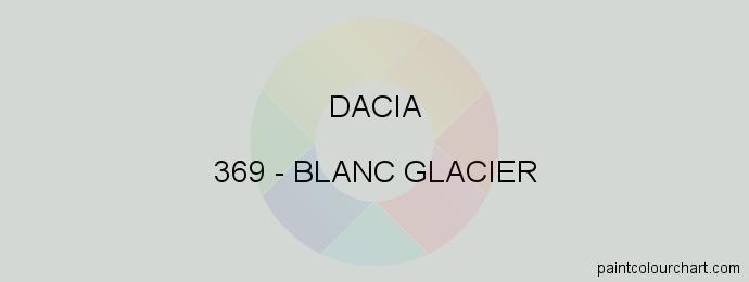 Dacia paint 369 Blanc Glacier