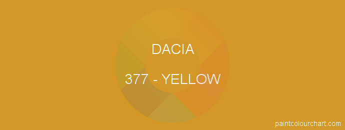 Dacia paint 377 Yellow