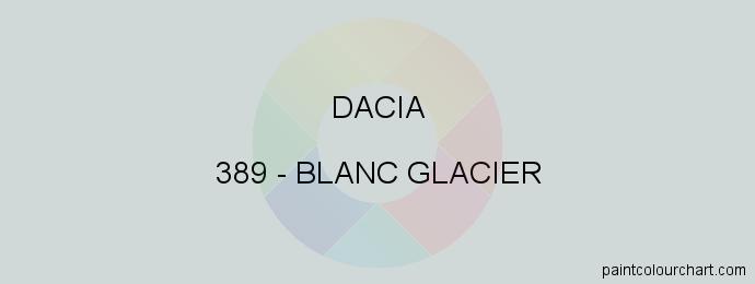 Dacia paint 389 Blanc Glacier