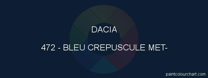 Dacia paint 472 Bleu Crepuscule Met-