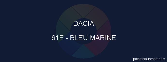 Dacia paint 61E Bleu Marine