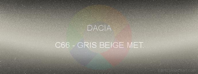 Dacia paint C66 Gris Beige Met.