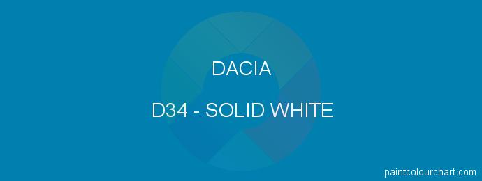 Dacia paint D34 Solid White