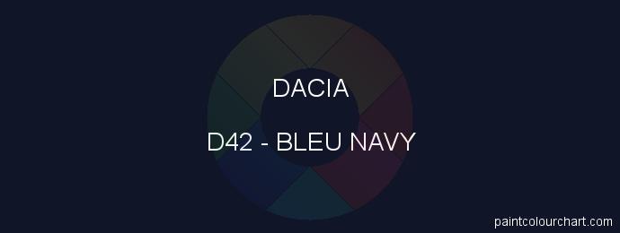 Dacia paint D42 Bleu Navy
