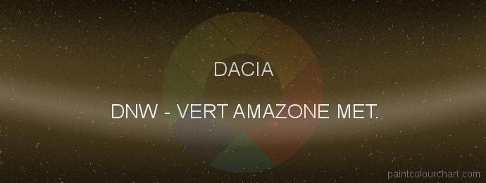 Dacia paint DNW Vert Amazone Met.