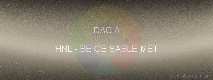 Dacia paint HNL Beige Sable Met.