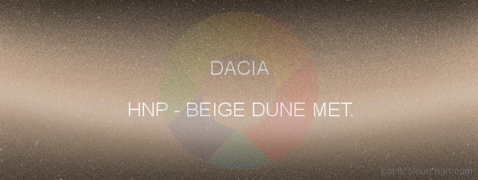 Dacia paint HNP Beige Dune Met.