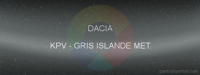 Dacia paint KPV Gris Islande Met.