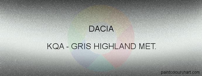 Dacia paint KQA Gris Highland Met.