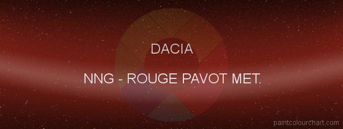 Dacia paint NNG Rouge Pavot Met.