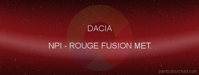 Dacia paint NPI Rouge Fusion Met.
