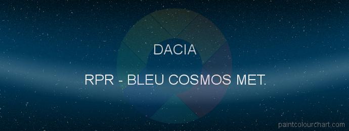 Dacia paint RPR Bleu Cosmos Met.